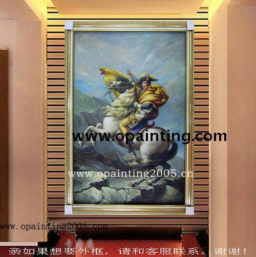Handmade Painting On Canvas Sofa Wall Background Mural Homeu0026Hotel Decoration  High Quality Napoleon Portrait Character Wall Art