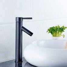 Новый дизайн масло втирают бронзовый кран ванной горячей и холодной воды краны умывальника черный и высокий бассейна смесители аксессуары