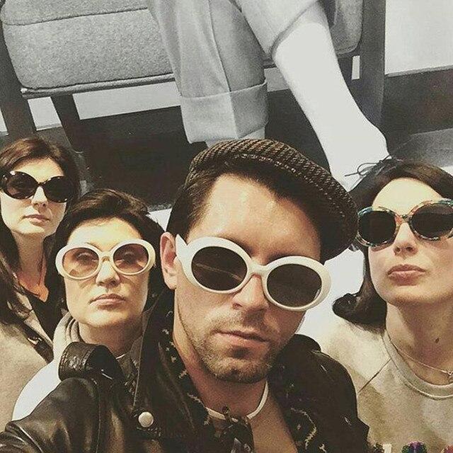 c163dadb6d1a5 2017 New Classic Vintage Kurt Cobain Sunglasses Men Women Retro Oval Sun  glasses Fashion Unsix Eyewear Gafas white blak eyewear