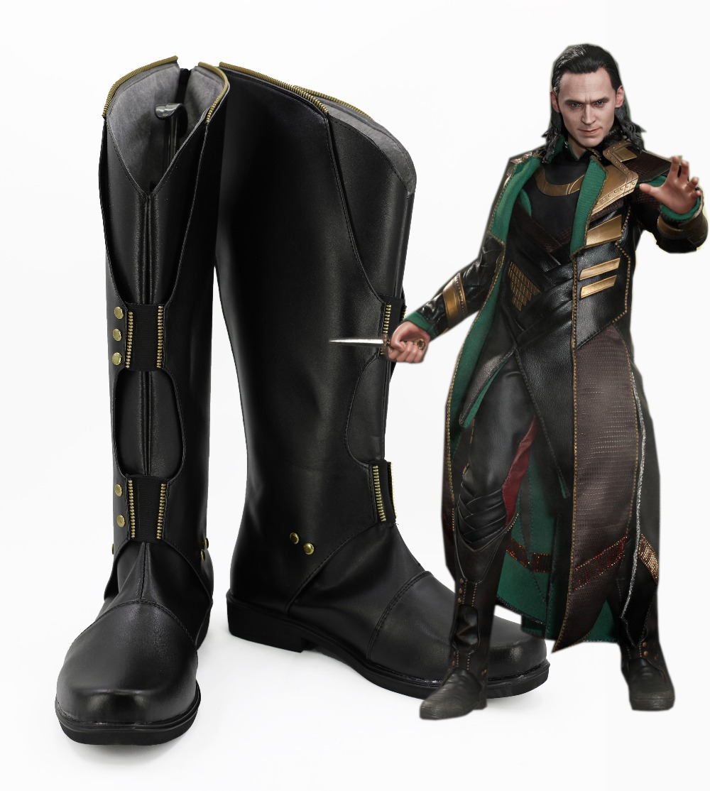 The Avengers Cosplay Shoes Thor The Dark World Loki Prince Anime Boots High Quality Custom-made