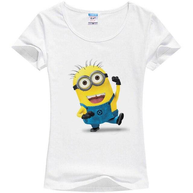 Ladies Minion Slim Summer 3d Kawaii Women T Shirts Minions Cartoon