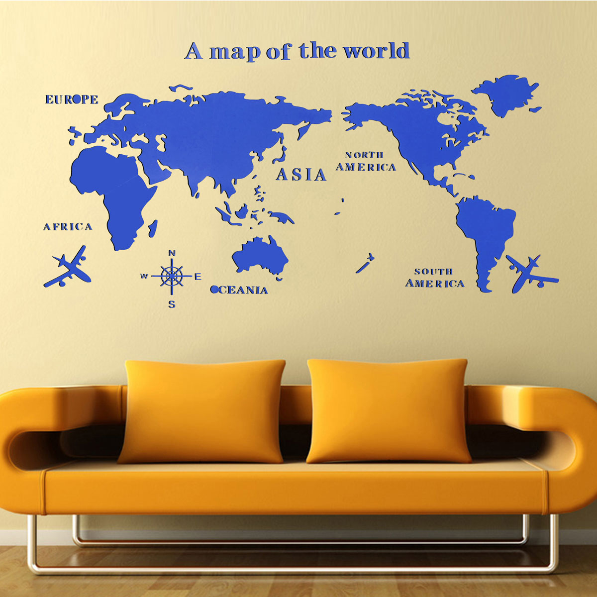 Funky Wall Decor Map Of The World Inspiration - Art & Wall Decor ...