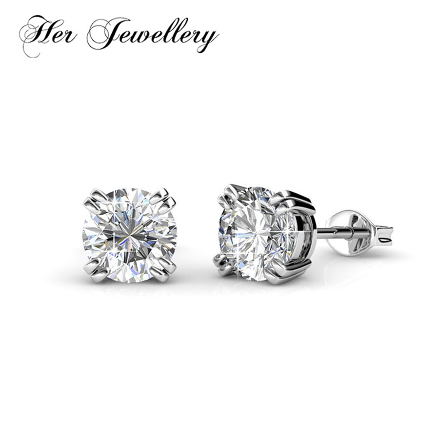 Her Jewellery minimalist earring Classic earrings Made with crystals from Swarovski jewelry for women Hot selling HE0283 in Stud Earrings from Jewelry Accessories
