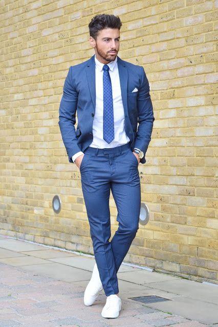 Latest Coat Pant Designs Blue Suit Men Slim Fit Simple Stylish Jacket  Modern Prom Blazer Bland Tuxedo Custom 2 Piece Terno ad7 db7af35ff