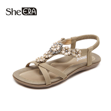 New Fashion Women Sandals Sweet Flower Casual Breathable Comfortable Classic Shoes She ERA