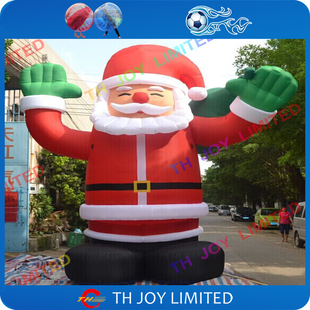 6m20ft outdoor giant inflatable christmas santalowes christmas inflatables santa clausinflatable - Lowes Blow Up Christmas Decorations