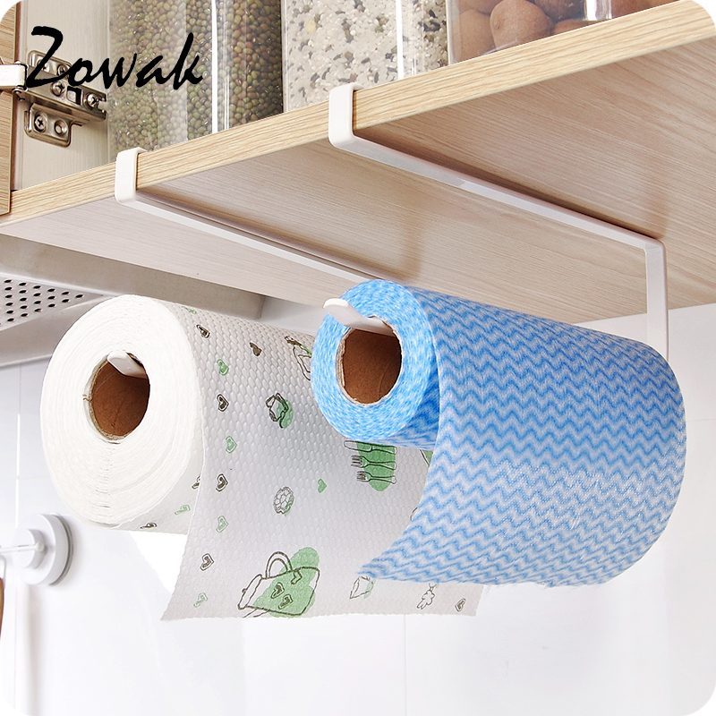 Bathroom Hardware 2019 New Paper Towel Holder Adhesive Paper Towel Holder Under Cabinet For Kitchen Bathroom #nn0220