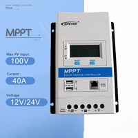 EPever MPPT 40A Modular Designed Solar Charger Controller 12V 24V Auto with DS2 and UCS Module Backlight LCD Display Regulator