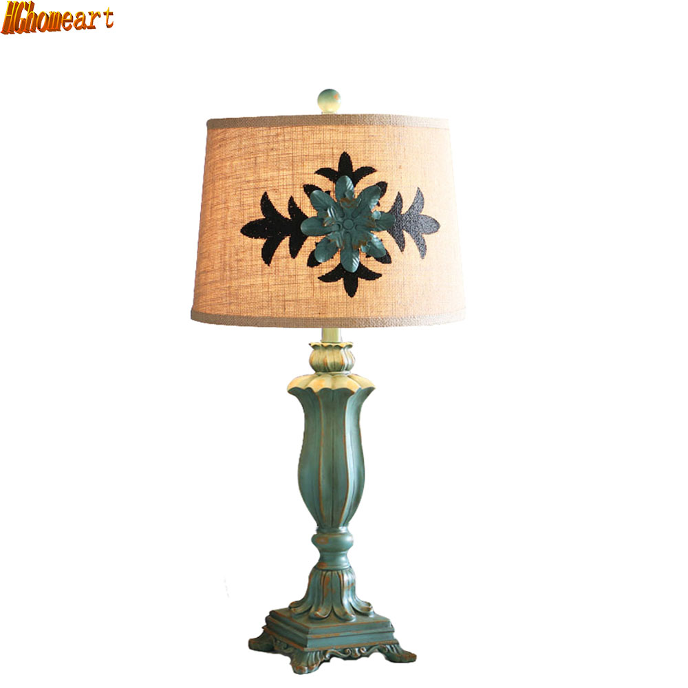2019 Nieuwste Ontwerp Hghomeart Amerikaanse Led E27 Retro Tafellamp Eenvoudige Bruiloft Creatieve Mode Woonkamer Slaapkamer Bedlampje Zorgvuldige Verfprocessen