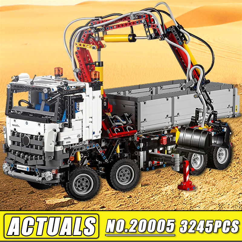 Bei Fen 3245Pcs NEW LEPIN 20005 Technic Series Big RC Truck Arocs Model & Building Block Bricks Compatible 42023 Kids Toy Gift lepin 22001 pirate ship imperial warships model building block briks toys gift 1717pcs compatible legoed 10210