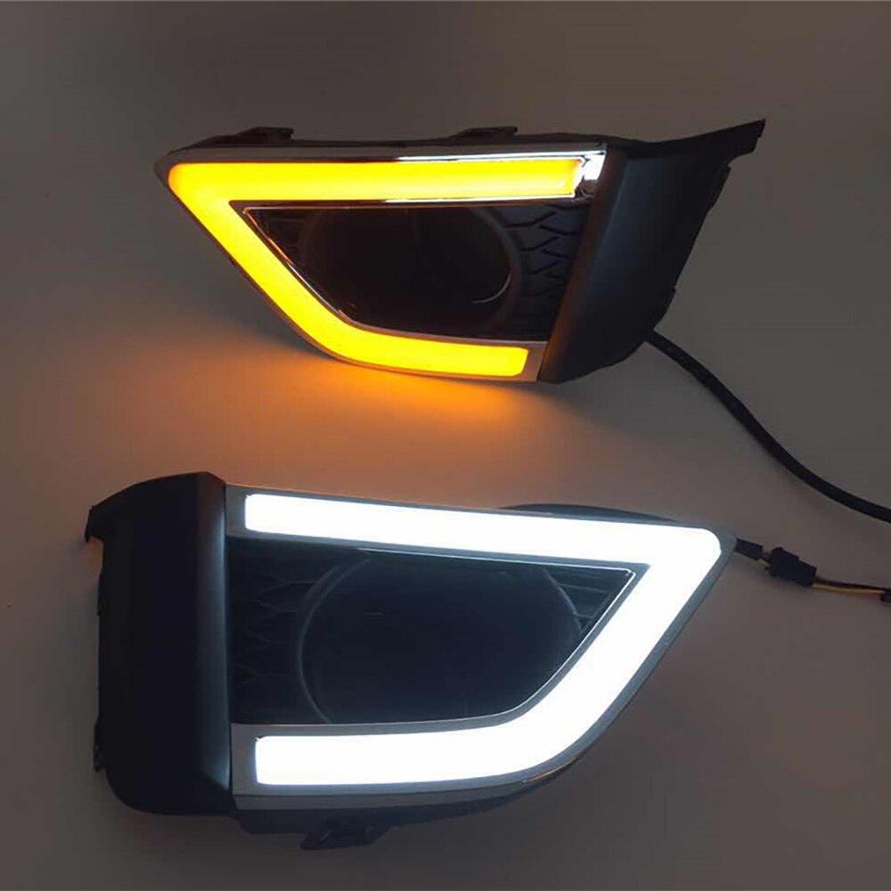 Voiture DRL kit pour Honda Fit 2014-2017 Feux de jour led avec signal éteindre les lumières la nuit lumière luminosité