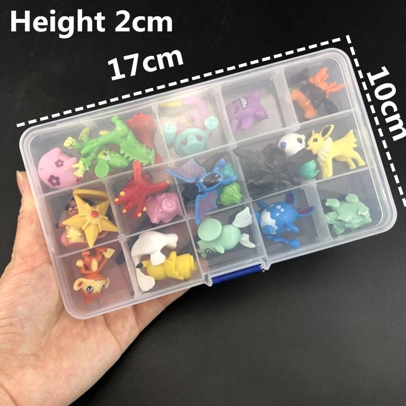 24/48/72pcs pcs action figure kids  pokemones  toys children Birthday Christmas gifts 2-3 cm Mini Anime Toy Figures for Children