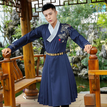 Ming Dynasty Student Dragon embroidery Hanfu Costume Unisex Embroidery outerwear spring traditional hanfu trench Outfit