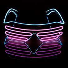 Новинка светодиодные очки светящиеся оттенки 4 вида цветов бредовые