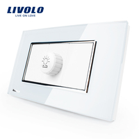 Free Shipping Livolo White Plastic Materials 36mm 36mm US AU Standard Function Key For Dimmer Socket