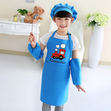 Childrens nursery art painting cooking baking aprons child kindergarten paint clothes for kids print logo