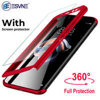 360 cubierta de la caja del teléfono protector para Xiaomi redmi 6a caso 4X 4A 5 5A 6 para Xiaomi redmi Note 5 caso 5A 7 6 pro con vidrio