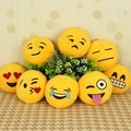 Atacado New Bonito Telefone Cadeias Emoji Smiley Emoticon Amarelo Almofada Stuffed Plush Macio Toy Mini Emoji Emoticon Brinquedo