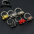 Motor brake brake disc brake caliper Turbo JDM brake calipers chain key ring keychain creative ring The boxer engine keychain