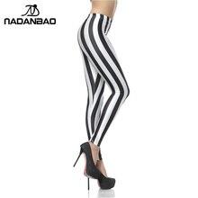 New Fashion Legging Digital Slim Sexy Black White Stripes Leggins  Leggins Printed Women Leggings Women Pants