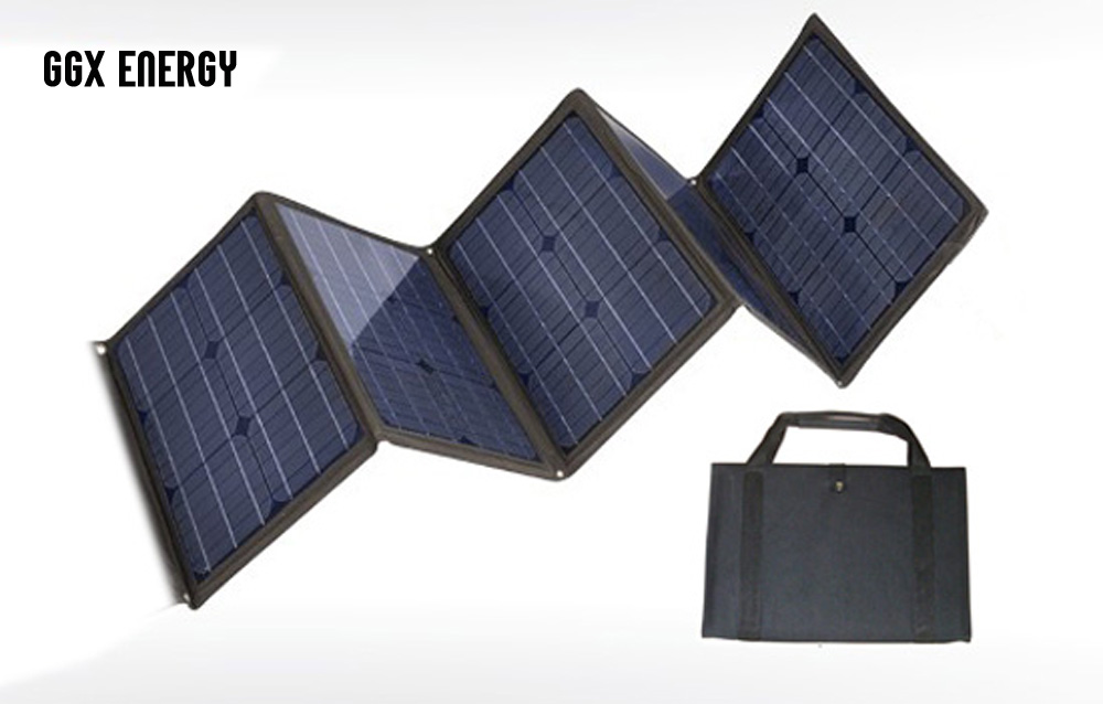 GGX ENERGY 100W Foldable Solar Panel Charger Bag Solar Regulator 12V Car Boat Battery Charger Solar Laptop Charger 1 Array tuv portable solar panel 12v 50w solar battery charger car caravan camping solar light lamp phone charger factory price