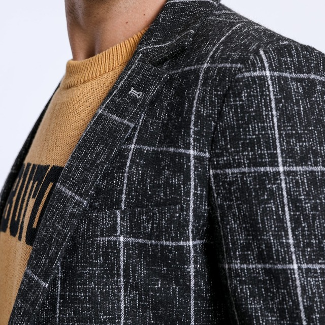 SIMWOOD 2018 Blazers Men Smart Casual Plaid Suits Woolen Coats Fashion Slim Jacket High Quality Blazer Masculino Vestidos 180417