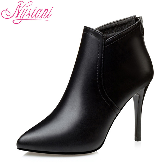 Women Fashion Thin High Heels Boots Party Dress