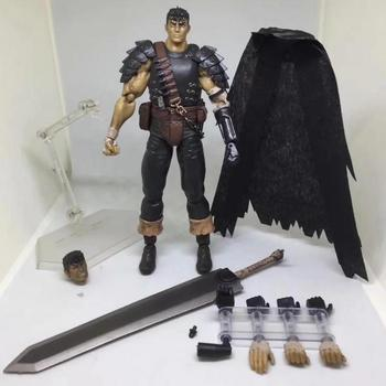 Game Berserk and the Band of the Hawk Toy Figma Action Figure 359 Black Swordman | 17cm