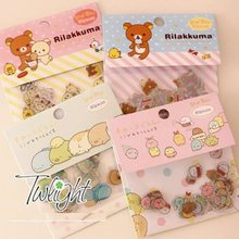 80pcs/pack Japan cartoon Rilakkuma & Friends series PVC sticker pack students' Decoration label stationery stickers Wholesale(China)