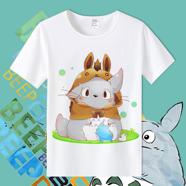 Forest Spirits Womens Cool Tee Shirts My Neighbor Totoro LUNDI DE PAQUES Screen Print Tee Shirts GF Outfits High Quality TX129