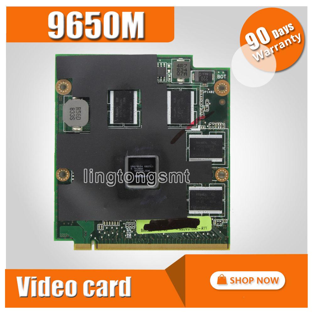 original 9650M GT G96-650-C1 1024MB MXM-II vga card for ASUS M50 M50V M70 M70V M50 M50VM M50VM M50VN M70VM N80V N80VM N80VC N80 for asus l50vn x57v m50vc m50vm m50v motherboard npcmb1100 a05 npcmb1500 a02 mainboard m50vm rev 2 0 pm45100