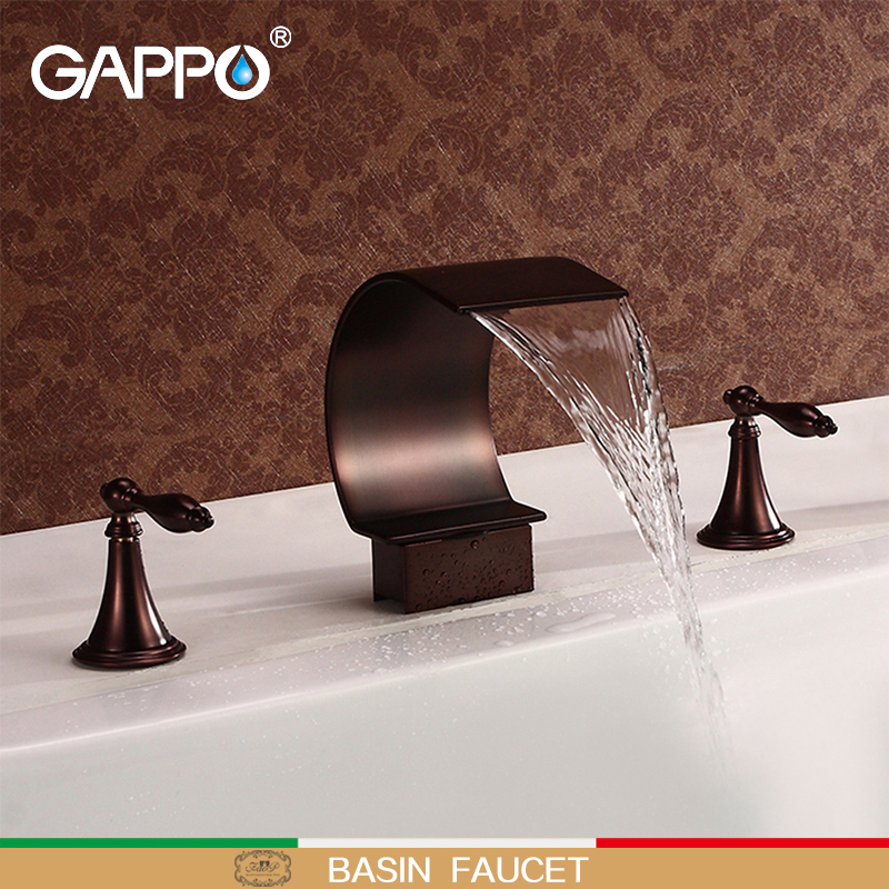 GAPPO basin faucet bath rain shower tap bathroom taps brass basin mixer taps waterfall bathroom faucets gappo brass bathroom basin faucet bath pull out tap cold and hot water mixer taps bath room sink faucets grifo lavabo g1209