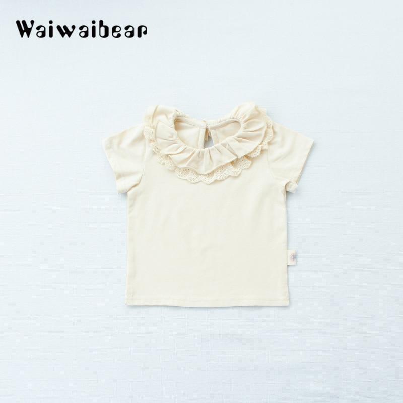 Wysokiej jakości bawełniane koszulki dla dzieci Baby Girl Casual - Odzież dla niemowląt - Zdjęcie 6