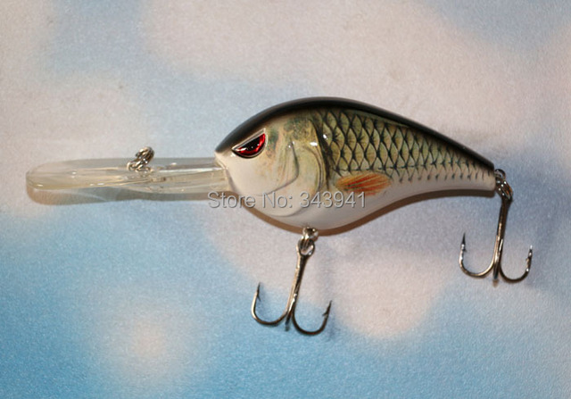 Plongée profonde fou Wobblers leurre de pêche Minnow manivelle appât manivelle 15 cm 30g réaliste dur appât matériel de pêche