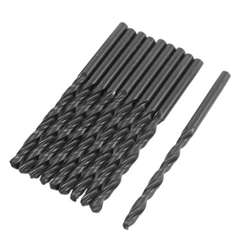 цена на Uxcell Hot Sale 10PCS 4/5/4.2/3mm Shank Dia. HSS Drill Bit Micro Straight Shank Wood Tools High Quality Electric Drill Tools