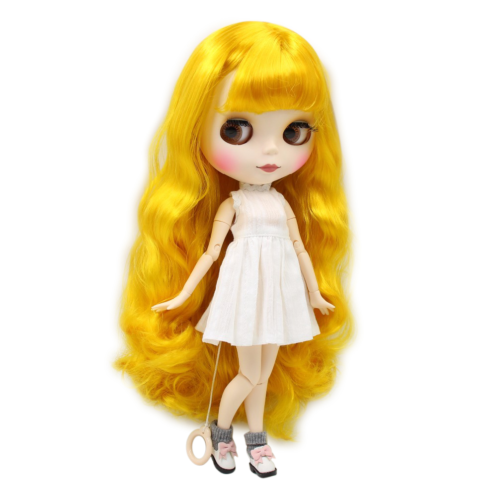 factory blyth doll yellow hair white skin matte face joint body BL3038 30cm 1/6 factory blyth doll custom your doll choose hair face body skin only one doll design your own doll
