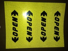 4pcs/pack door open warning caution reflective sticker Car stickers on door for safe driving for MAZDA 2 3 5 6 CX-5 CX-7 CX-9