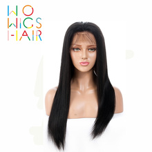 WoWigs Hair Lace Front Wigs Straight Remy Natural Color 100% Human