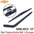 Mk qeepei traseiro limpa e braço para toyota auris 1 Europa 2006-2012 12 5 ''porta Tourer Natural de Alta Qualidade borracha