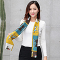 2017 Новый Шелковый Атласный Шарф Седло Женщина Шарфы Моды Малый Платок 16x140 см Профессиональный Леди Wrap шарфы