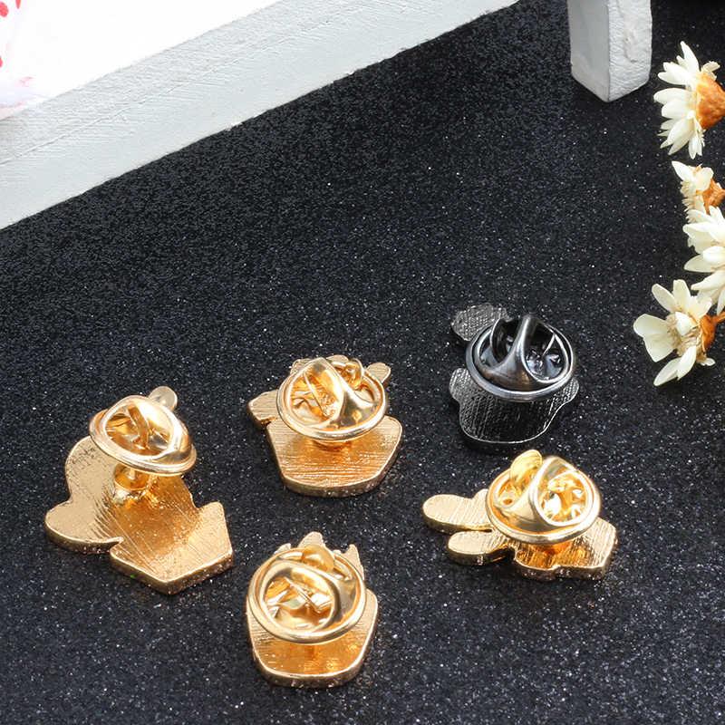 卸売植物漫画ブローチかわいいミニサボテン鉢植えウチワサボテンエナメルピンジャケットラペルピンバッグアイコンバッジ女性ジュエリー