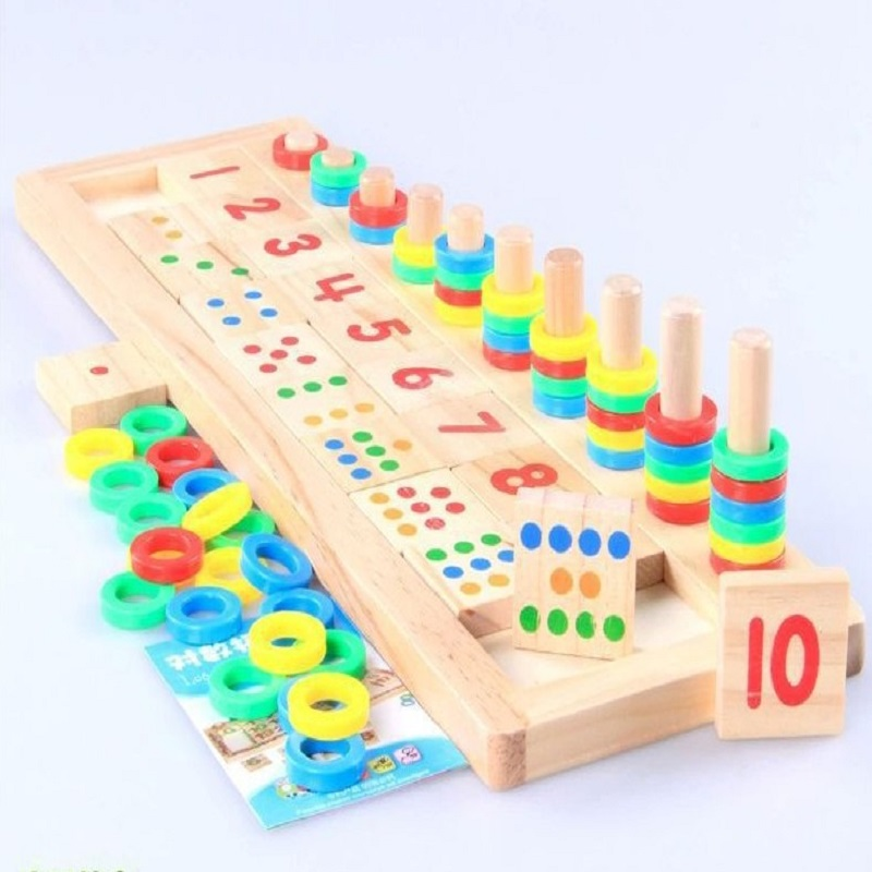Preschool Mathematics Domino 110 Op Children Early Wooden Toys And Teaching Aids In Stationery Set From Office School Supplies On Aliexpress Com