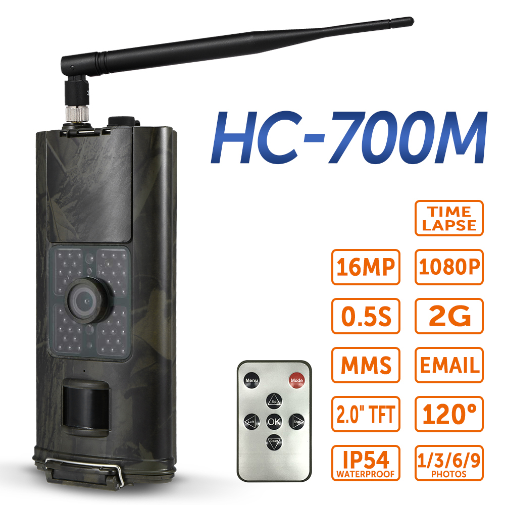 16MP 2 3G SMS Hunting Camera Outdoor Trail Camera Wildlife Scouting Photo Traps Cameras PIR Infrared