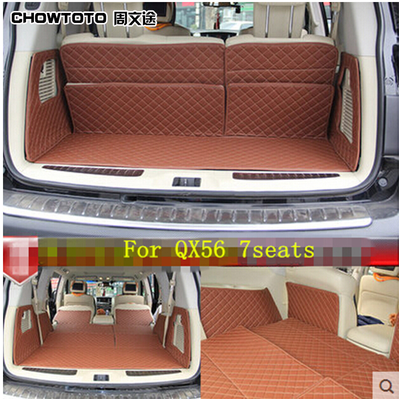CHOWTOTO AA Custom Special Trunk Mats For Infiniti QX56 7seats Durable Waterproof Luggage 7 Seat Model