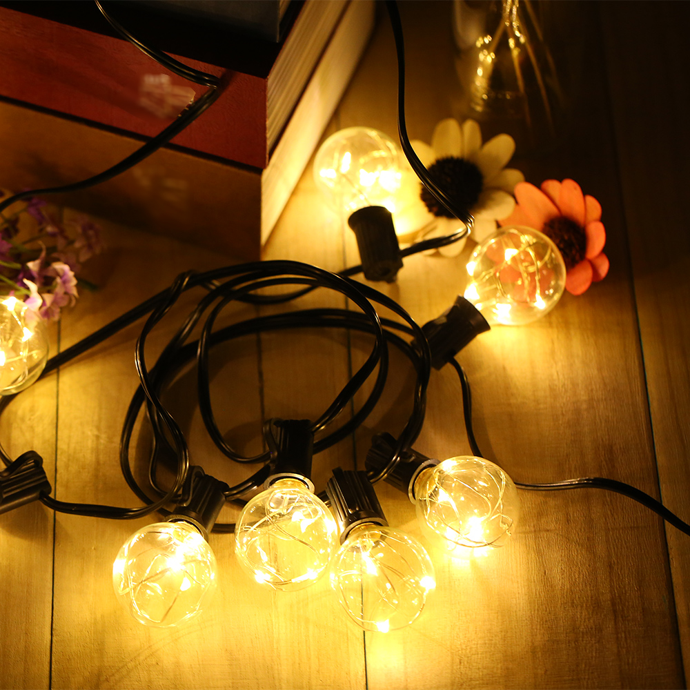 Outdoor Lighting Ball Curtain Lamp 3 Meters Wide Warm White Light Socket With Tail Insert Beautiful Light Room Light Bulbs
