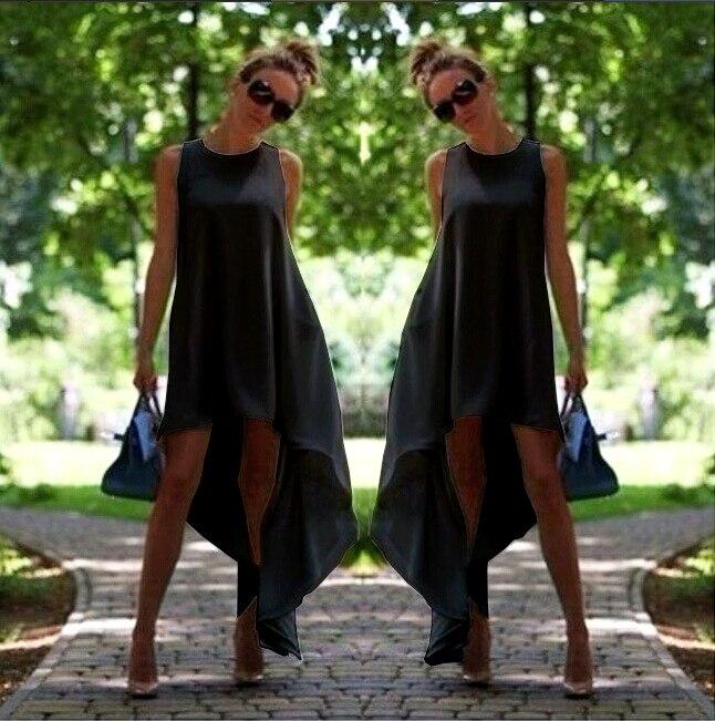 5XL zomerjurk Boheemse witte jurk onregelmatige chiffon jurk losse - Dameskleding