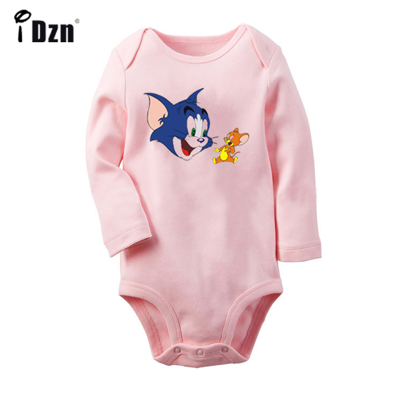 Cartoon Cat And Mouse Goku Red Eye ONE PIECE D. Luffy Pokemon Newborn Baby Bodysuit Suit Toddler Onsies Jumpsuit Cotton Clothes