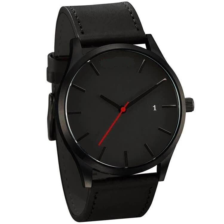 Military Quartz Men Watch Leather Sport Watches Reloj 2019 Fashion Large Dial High Quality Clock Wristwatch Relogio Masculino