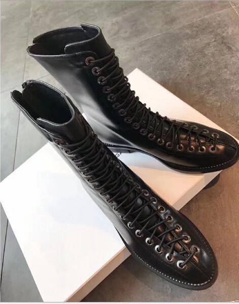 Cuir Cheville Designer En Mode Retour Femmes Moto Dentelle As Véritable De Chaussures Bottes Zipper Show Date up 2018 1OqRYY
