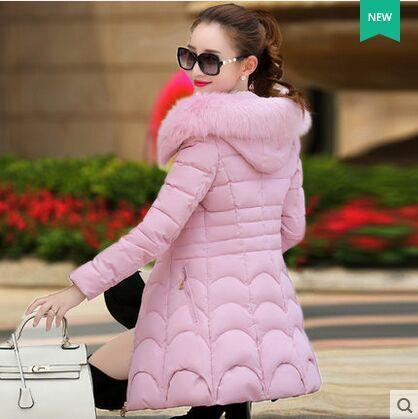 Parkas Haute Overwear Manteau Coat Coat Taille Hiver Winter Qualité Grande Épais Solide Long Veste Mode Chaud Femmes Mince long Couleur Mozhini Ouatée 6gd1qwT86